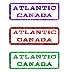 Atlantic canada watermark stamp vector