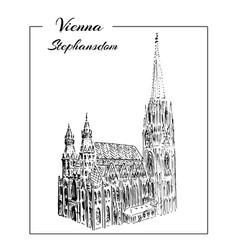 vienna dom stephansdom vector image