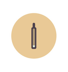 stylish icon in color circle medical thermometer vector image