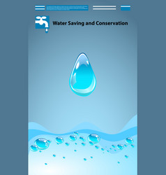 save water concept ecology saving vector image