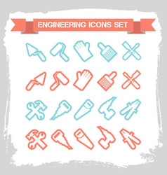 Engineering line icons set vector