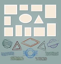 retro postage stamp frames vector image