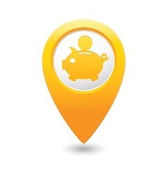 Copypig icon yellow map pointer vector