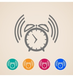 Alarm clock icons vector