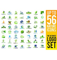 Nature icons logo set vector