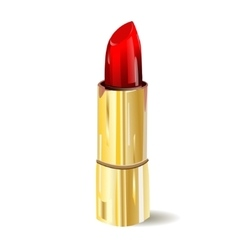 Lipstick isolated on white background vector