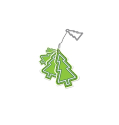 christmas trinket vector image