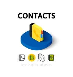 Contacts icon in different style vector