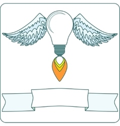 lightbulb with wings vector image