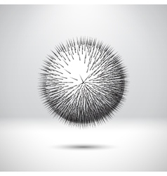 Abstract ball with sharp needles vector image
