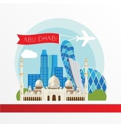 Abu dabhi detailed silhouette trendy vector