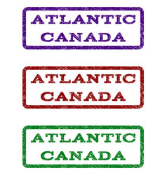 Atlantic canada watermark stamp vector