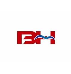 B and h logo vector