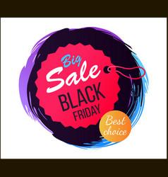 big sale black friday best vector image