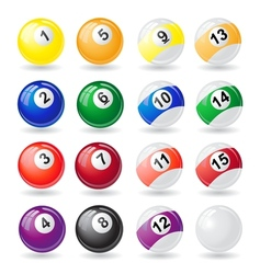 billiard balls 01 vector image