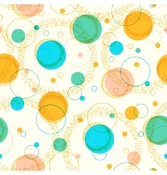 Colorful pattern with circles vector image