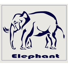 Elephant icon tattoo vector image vector image