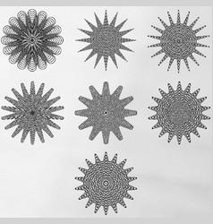Experimental mandalas vector
