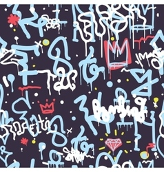 Graffiti Seamless Pattern Color vector image vector image