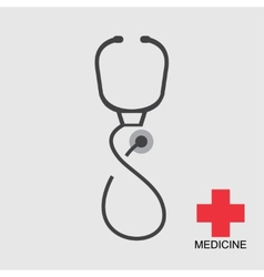Icon stethoscope vector
