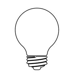 Isolated and silhouette light bulb design vector image vector image