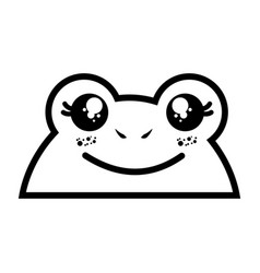 Isolated cute toad face vector