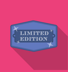Limited edition icon in flat style isolated on vector