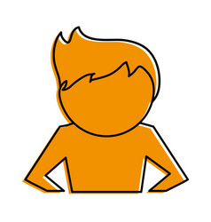 man with hands on hips cartoon icon image vector image vector image