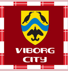 National ensigns of denmark - viborg city vector