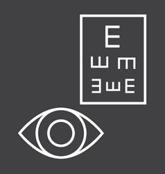 Optometry line icon medicine and healthcare vector