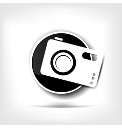 Photo camera web icon vector image vector image
