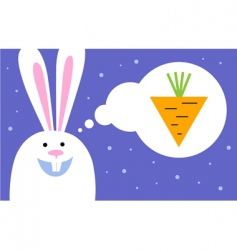 rabbit dreams of carrot vector image vector image