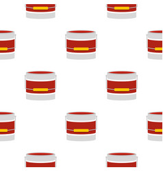 Red paint bucket pattern flat vector