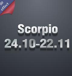 Scorpio icon symbol 3D style Trendy modern design vector image vector image