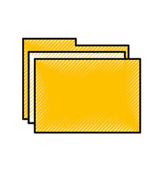Scribble folder cartoon vector