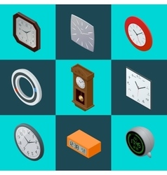 Set of elegant clocks pendulum clock modern vector