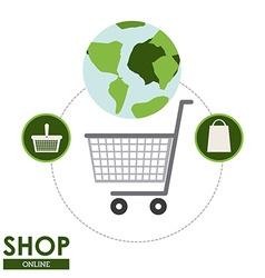 Shop design vector image