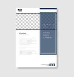 Template design brochure annual report magazine vector