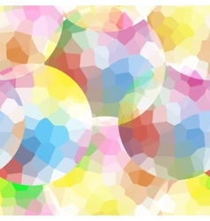 The pattern of multicolor mosaic circles vector image