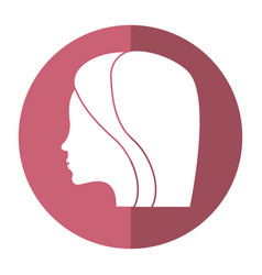 Women day profile girl icon shadow vector