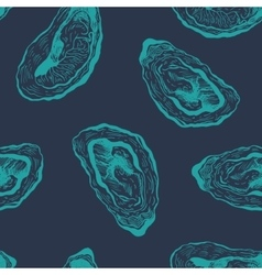 Oysters vintage pattern vector