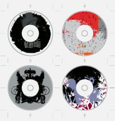 Cd template grunge designs vector
