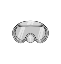 Goggles for diving icon black monochrome style vector