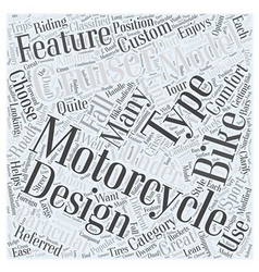 Types of motorcycles to choose from word cloud vector