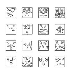 avatar cartoon icons vector image