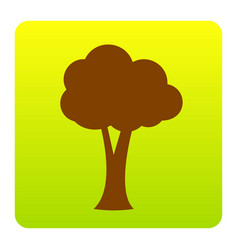 Tree sign   brown icon at vector