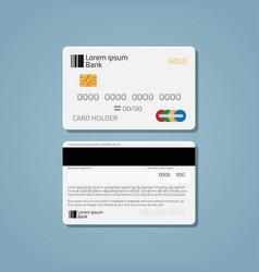 Bank credit debit card vector