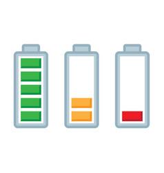 Battery load charge status symbols set vector
