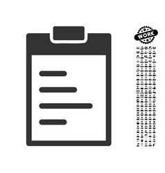Pad text icon with professional bonus vector