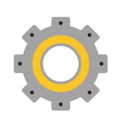 Single gear icon image vector